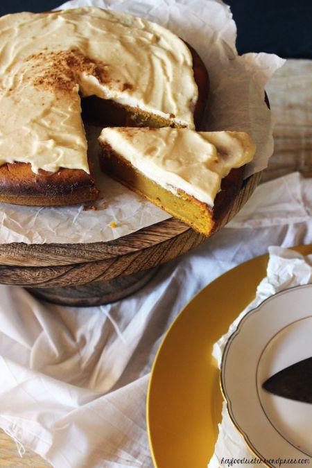 Rezept Kürbiskuchen mit Ahornsirupfrosting
