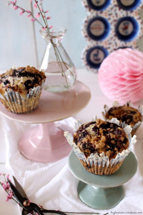 Rezept für Blaubeer-Streusel Muffins Hey Foodsister