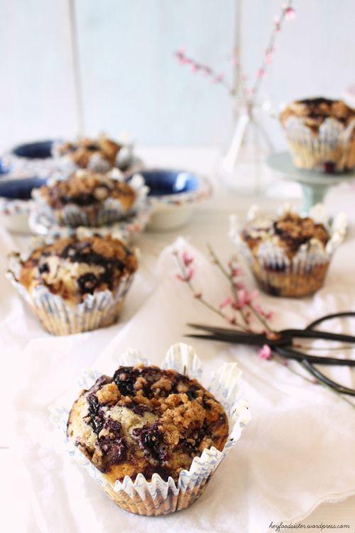 Rezept für Blaubeer-Streusel Muffins