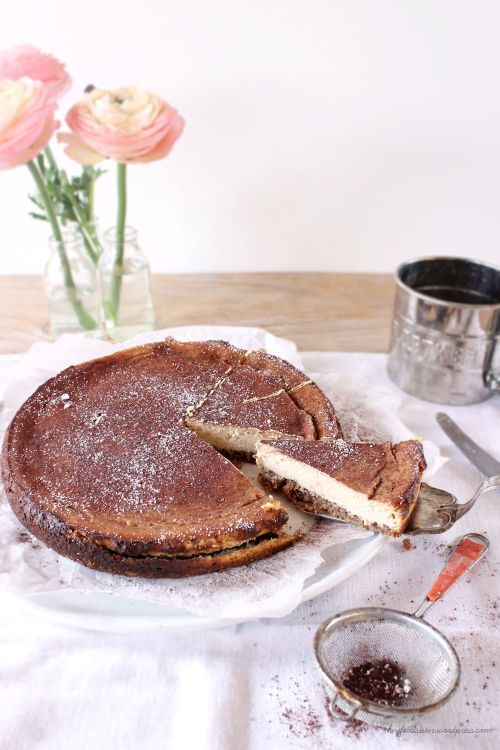 Rezept für einen Ricotta Espresso Cheesecake