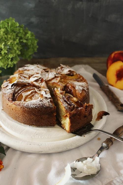 Rezept für einen Rührkuchen mit Nektarinen und Kokos