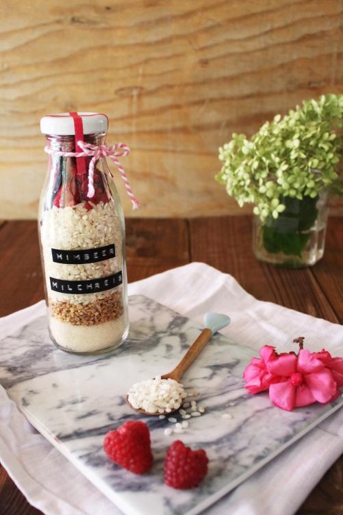 Rezept für Milchreis im Glas