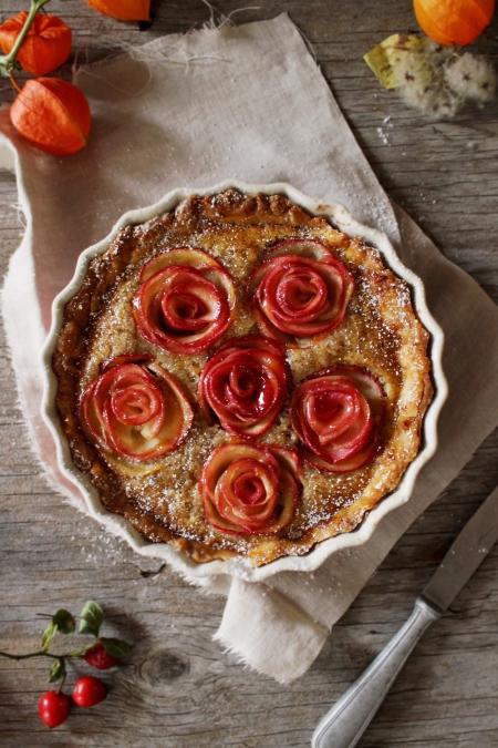 Rezept für eine Apfel Frangipane Tarte