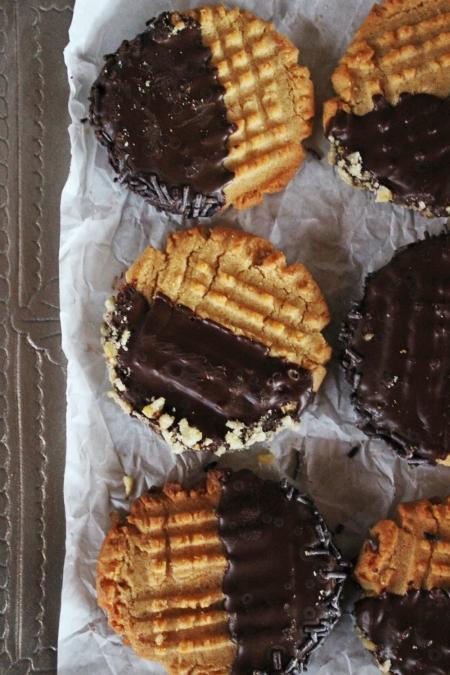 Rezept für Erdnussbuttercookies mit Schokolade