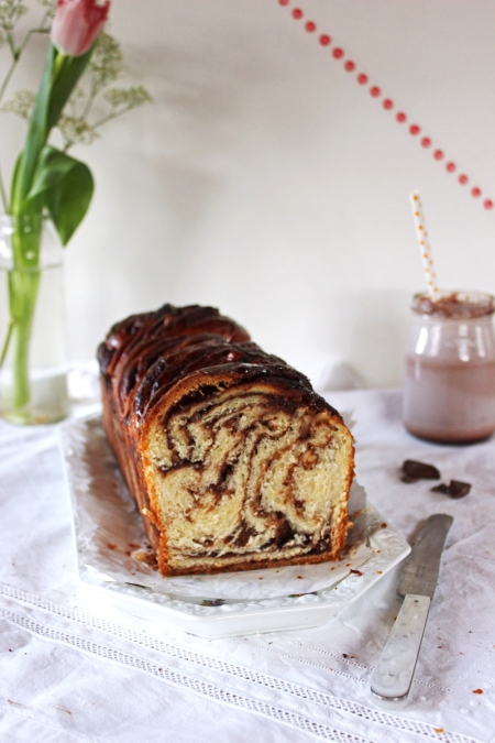 Rezept für Hefezopf mit Schokowirbel und koawach Schokolade