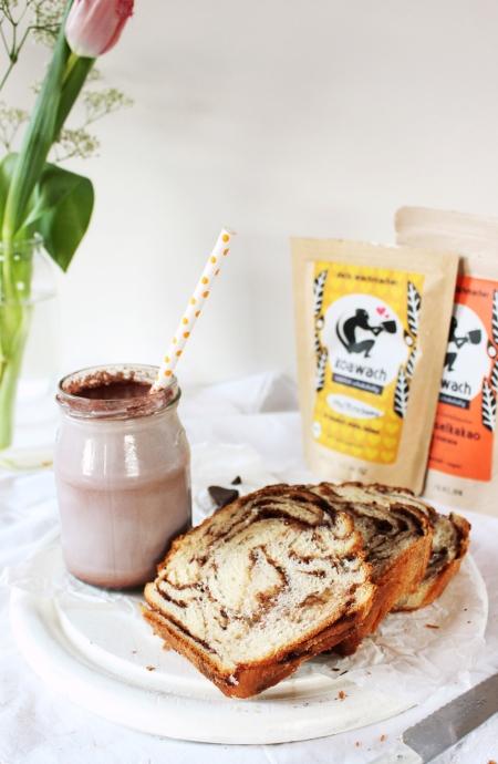 Rezept für Schokoladenwirbelbrot
