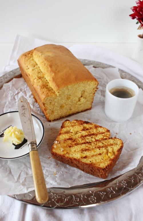 Rezept für grilled Cornbread mit Honigbutter