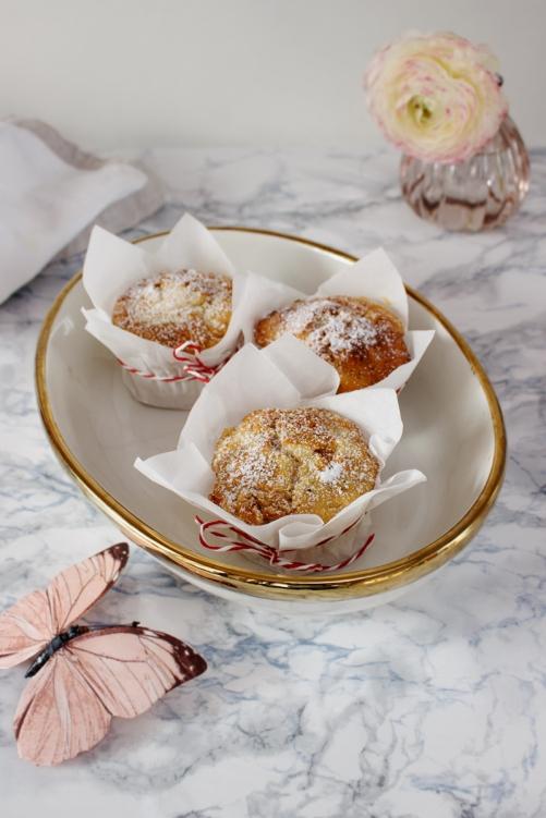 Rezept für Carrot Cake Muffins mit Cheesecake Swirl