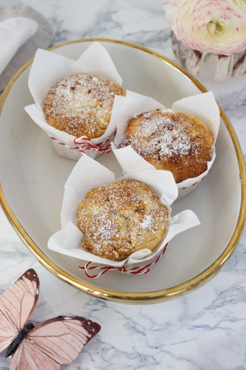 Rezept fuer Karotten Kaesekuchen Muffins