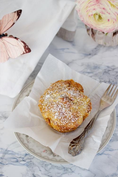 Rezept fuer Karotten Muffins mit Cheesecakefuellung
