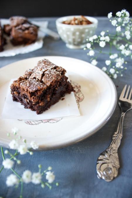 Rezept für Pekanuss Salzkaramell Brownies