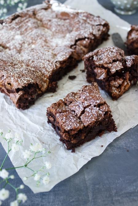 Rezept für super saftige Brownies mit Pekanüssen und Salzkaramell