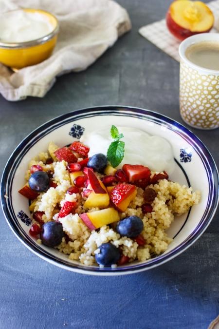 Rezept für süßen Couscous zum Frühstück